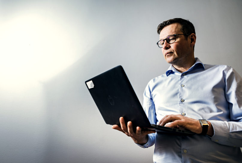 Stefan Talus on Fennian aluejohtaja. Kuva: Linus Lindholm
