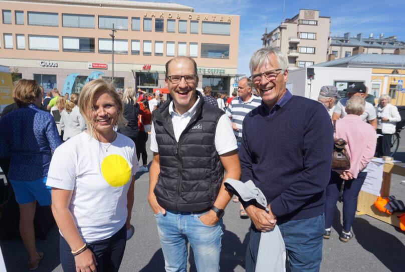 Heidi Matinlassi, Daniel Asplund, Jarl Sundqvist.