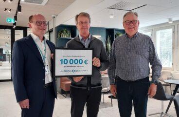 LähiTapiola Pohjanmaa 10 000 € lahjoitus
