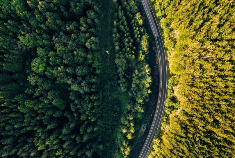 Pohjanmaa metsät ja tie